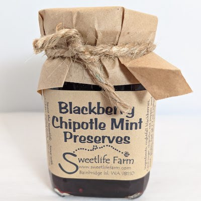 Blackberry Chipotle Mint Jam